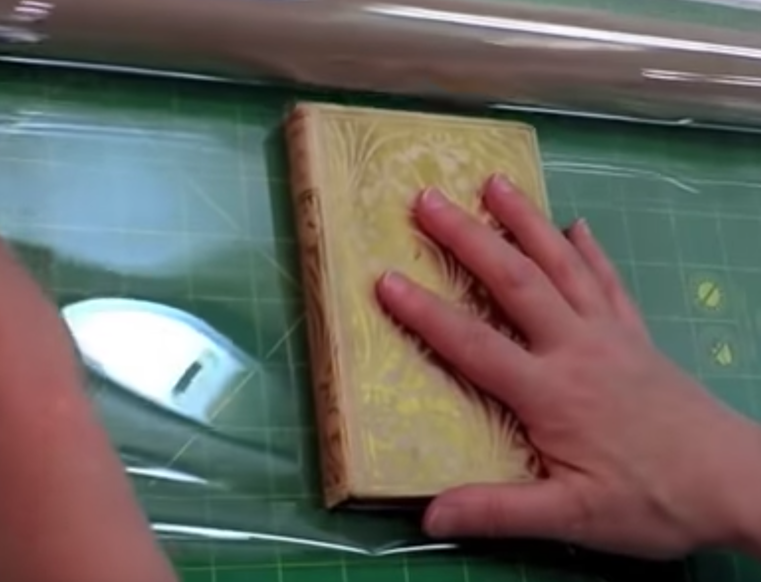 "Create a ""Mylar"" Cover for a Book with Weak Hinges"