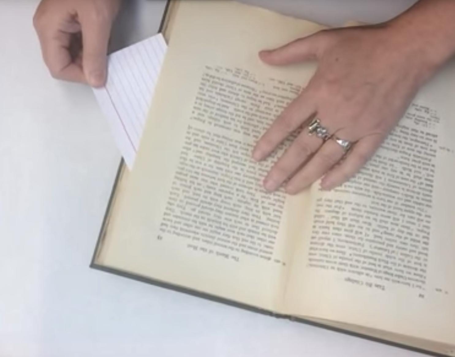 Open Uncut Book Pages