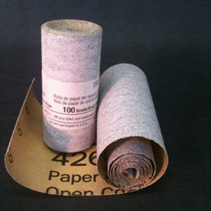 Sandpaper Roll 100grit 2 ½ inches wide by 55 inches