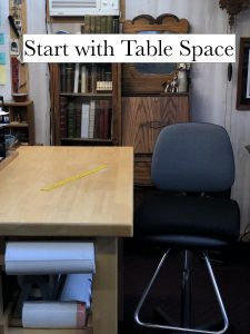 table space to repair books